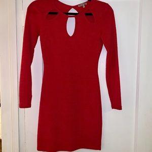 Pink Long Sleeve Bodycon dress